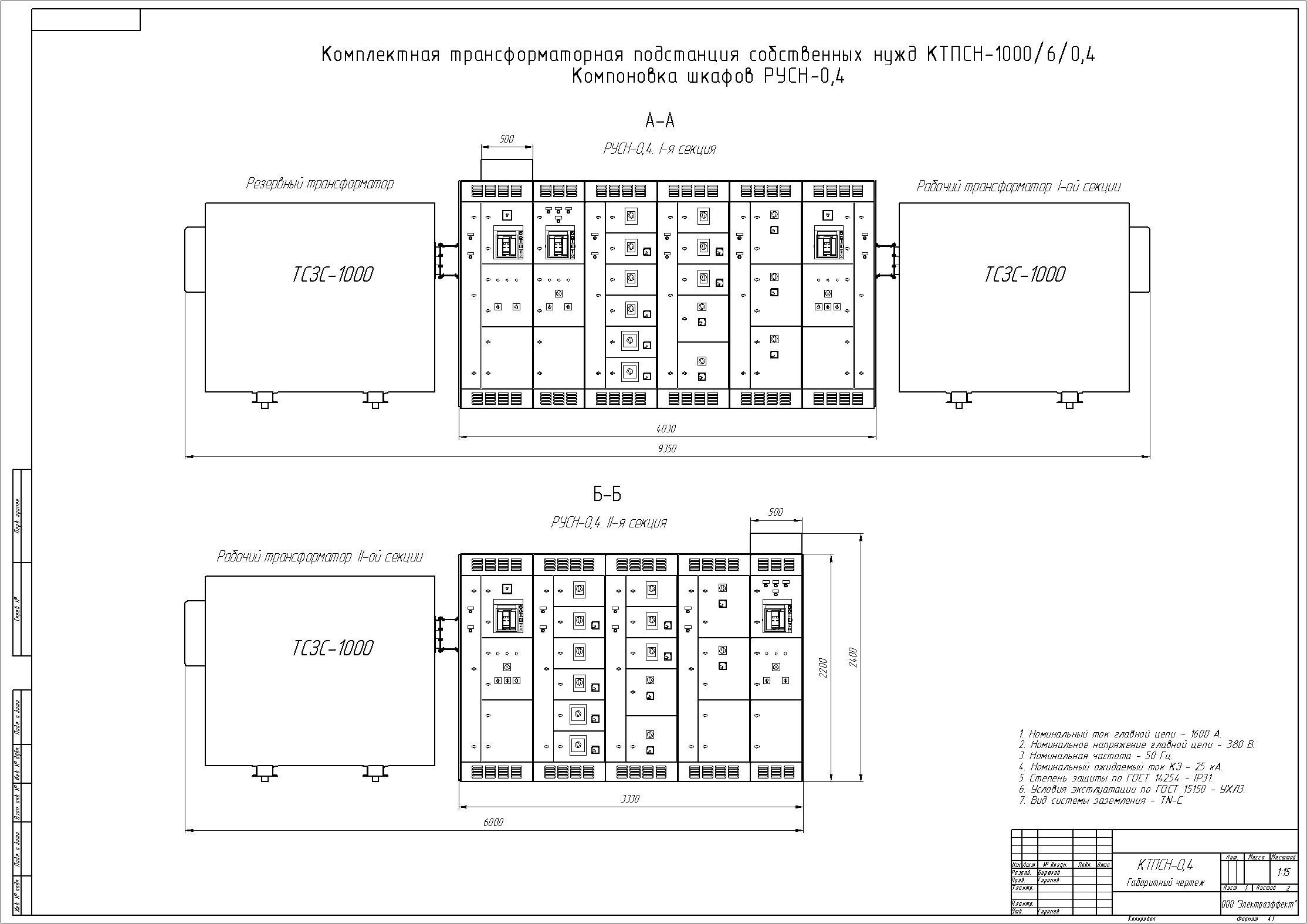 Схема и компоновка ктп